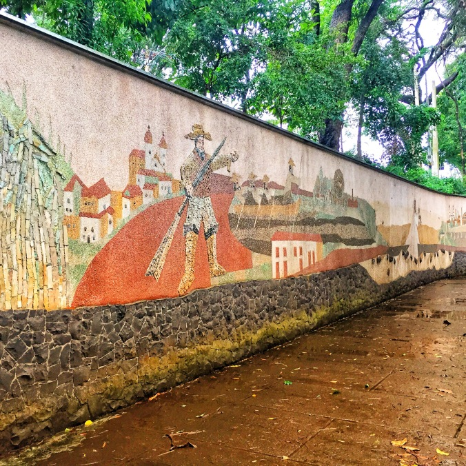 Mirante Park mural in Piracicaba