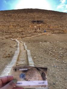 Venturing into a pyramid!